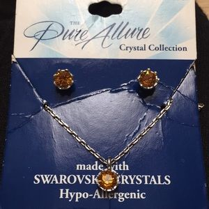 Swarovski crystals earrings and necklace